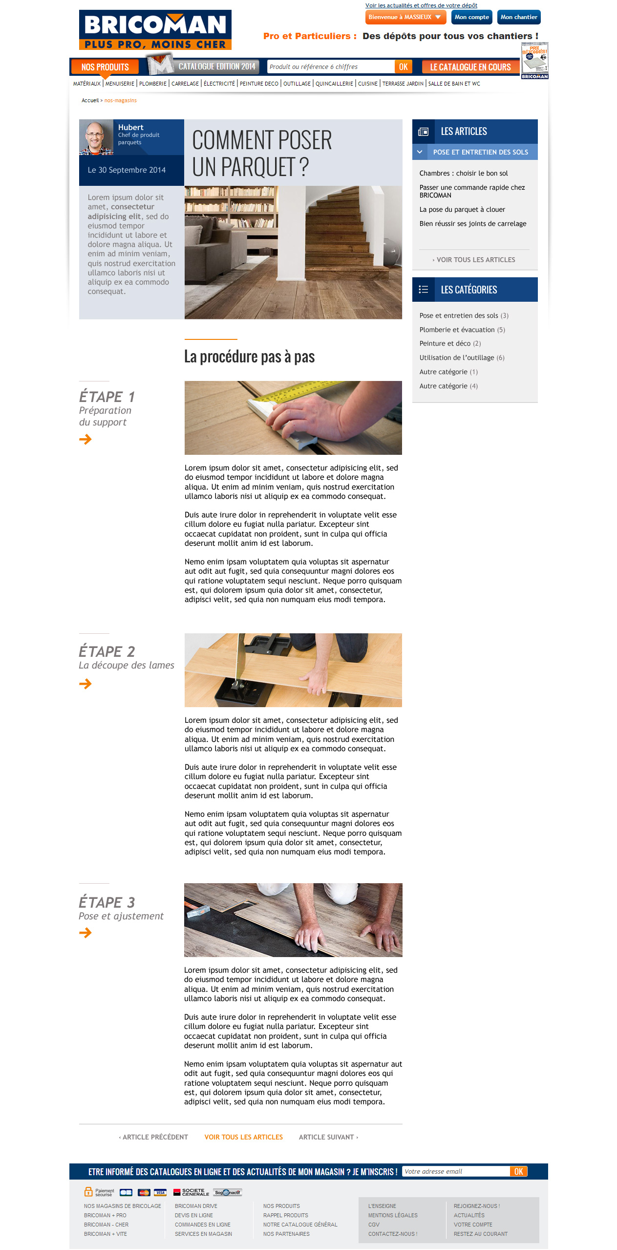 Page de Blog Bricoman
